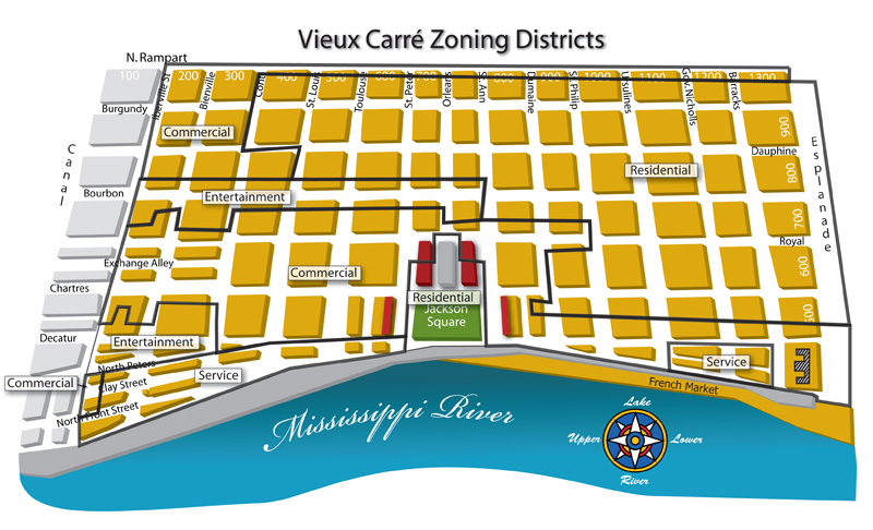 Vieux Carré Zoning Districts