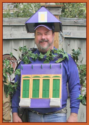The Author - Dressed as a Shotgun House